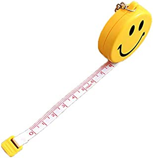 60 inches Tape Measure for Body Measurements Smile Shape Retractable Dual Sided Inch and Centimeter Keychain 150 cm TPPR24464