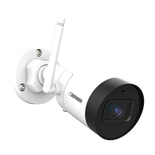 Defender Guard 2K HD Professional Semi Wireless Security IP Camera- Weather Resistant Surveillance Bullet Camera Motion Alert Night Vision Save & Share Footage Plug & Play Built-in Mic Audio Recording