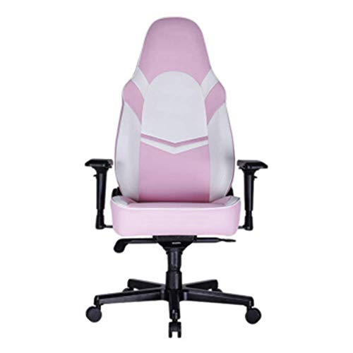 Chaise de Bureau réglable Jeu Haut Rose Dossier Chaise Anchor Fille Accueil Internet Café Mignon Mobile Gaming Chaise Light Purple Moderne de Couleur Rose xiao1230 (Size : Pink)
