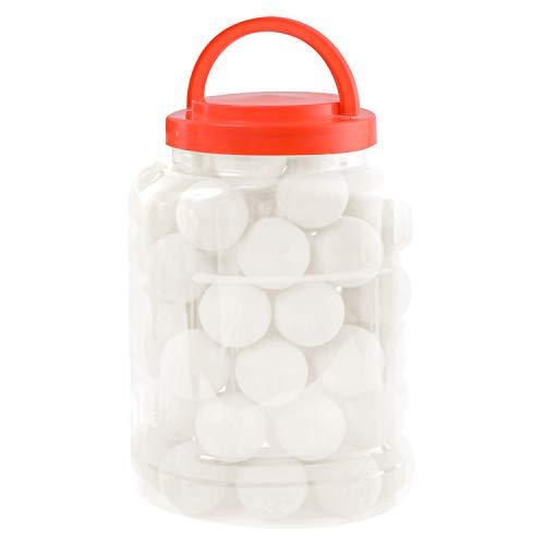 [SCIOLTO] 卓球 ボール ピンポン 玉 無地 40mm 60個 ボトルケース付き 練習用 家庭用 卓球セット 卓球用品 (ホワイト)