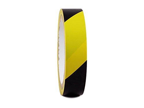 T.R.U. SST-618C Black & Yellow Hazard Warning Safety Stripe Tape: covid 19 (Caution 1 Roll coronavirus)