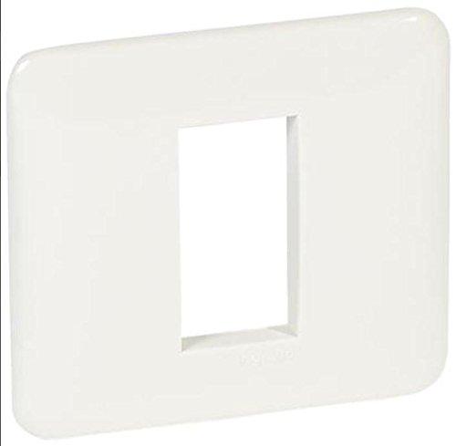 CROSS-Placca ABS scatola rett. 1M bianca