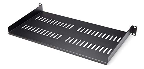 StarTech.com 1U Vented Server Rack Cabinet Shelf - 10in Deep Fixed Cantilever Tray - Rackmount Shelf for 19