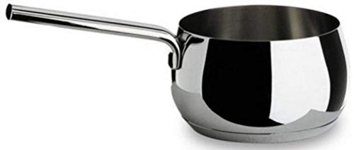 Alessi, 'MAMI', Long handled saucepan in 18/10 stainless steel mirror polished,1 qt 23 oz