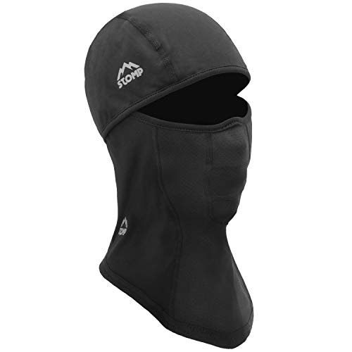 Stomp Balaclava Ski Mask  Winter Face Mask for Men amp Women  Cold Weather Gear for Skiing Snowboarding amp Motorcycle Riding Black