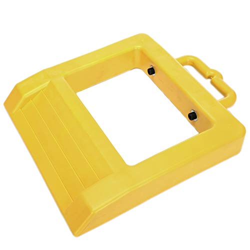 "Homeon Wheels Pallet Truck Chock Heavy Duty Pallet Jack Stopper 14.2"" Length x 11.6"" Width x 2"" Height Yellow (1 Pack)"