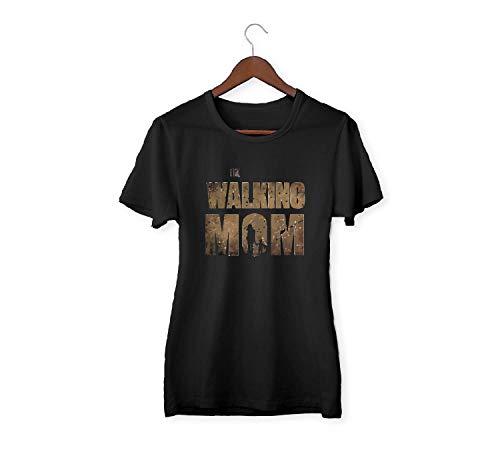 Custom Vinyl Camiseta Dia de la Madre Walking Mom M - Normal