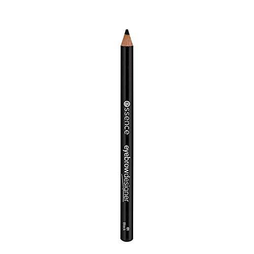 essence eyebrow DESIGNER, Eye Pencil, Augenbrauenstift, Nr. 01 black, schwarz, verdichtend, definierend, vegan, Nanopartikel frei, entspricht unserem CLEAN BEAUTY Standard (1g)