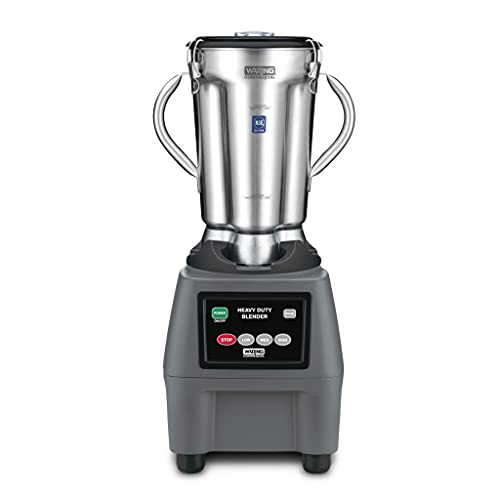 Waring Commercial CB15 Ultra Heavy Duty 3.75 HP Blender, Electric Touchpad Controls with Stainless Steel 1 Gallon Container, 120V, 5-15 Phase Plug