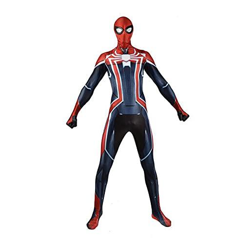 MYYLY Vengadores Spider-Man Capitán América Mono Ropa De Cosplay Estampado 3D Halloween Carnaval Traje De Superhéroe Traje De Fiesta Accesorios De Película Disfraz,Blue-XXL Adult(180~190cm)