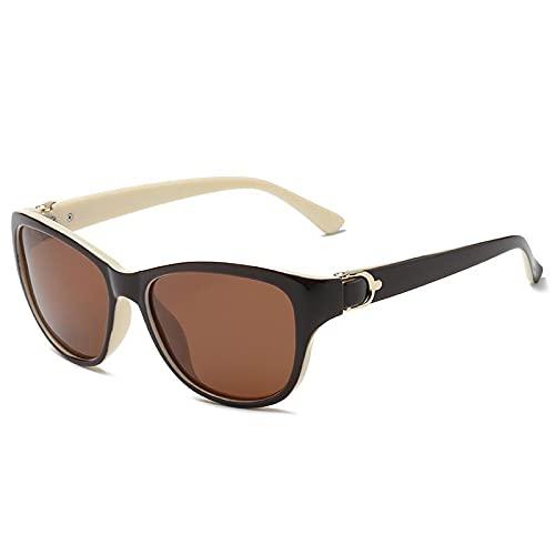 YOUMIYH Nuevos Hombres y Mujeres Patrón de Ojos de Gato Gafas de Sol polarizadas Personalidad de Lujo Gafas de Sol de conducción de Lujo (Color : D, Size : A)