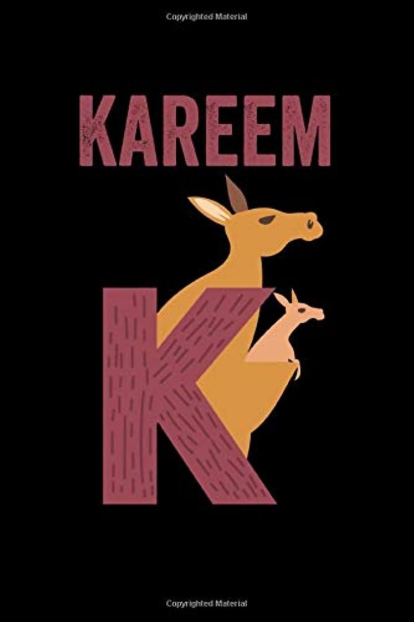 こっそり周囲縁Kareem: Journal (Diary, Notebook) Personalized Custom Name Alphabet Kangaroo Birthday Gift for Boys