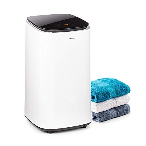 KLARSTEIN Zap Dry - Secadora, Potencia 820 W, Capacidad 50 L, 3 programas, Tambor de Acero Inoxidable, Panel de Control táctil, Tapa con Vidrio de Seguridad, Recogecable, Pantalla LED, Blanco