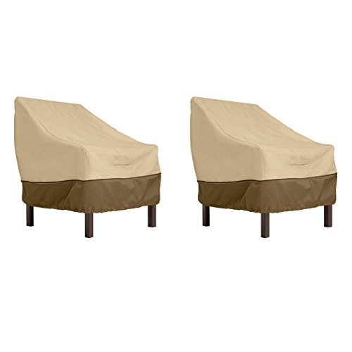 Classic Accessories Veranda Water-Resistant 25.5 Inch Patio Chair Cover, 2-Pack