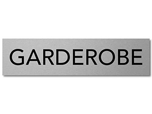 Interluxe deurbordje garderobe bord van aluminium, 200x50x3mm, zelfklevend en verwijderbaar voor restaurant, hotel, restaurant, club
