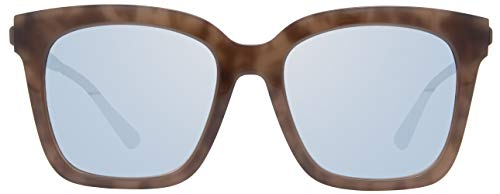 DIFF Eyewear - Bella - Designer Square Oversized Sunglasses for Women -100% UVA/UVB, Mocha Tortoise + Blue Flash