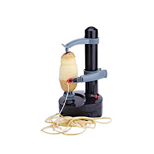 ARSUK Pelapatate Elettrico Multifunzione Rotazione Automatica di Mele Pelapatate Pelapatate Tagliaverdure Utensili da Cucina in Acciaio Inossidabile (Bianco)