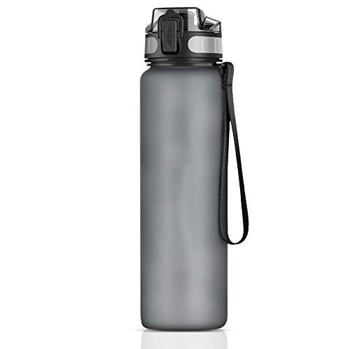 Botella de agua deportiva con paja plegable reutilizable frasco a prueba de fugas gimnasio 1000 ml taza de viaje ejercicio senderismo 1 pieza