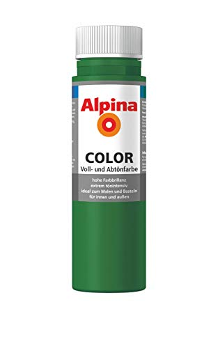 ALPINA COLOR Abtönfarbe, Bastelfarbe, Wandfarbe, Jungle Green, 250 ml