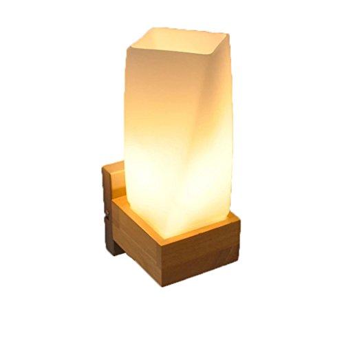 ZWL Lampadaire Woody, Led Escalier Aisle Patio Lampes murales Chambre à coucher Lampe de chevet Night Light Marriage Room Decoration Lampes et lanternes Single Head E27, 19.5 * 10 * 13CM mode ( taille : 19.5*10*13CM )