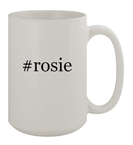 #rosie - 15oz Ceramic White Coffee Mug, White