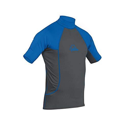 Palm Kajak oder Kajak - Short Sleeve Schnell Dry Leicht Rash Vest Top Jet Grau Blau - UV - Sonnenschutz und SPF - Eigenschaften