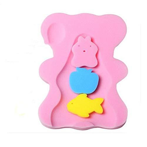 Asffdhley Baby Badekissen Dusche Baby Universal Baby Artifact Anti-Rutsch-Matte Bad Rahmen Badezimmer Sicherheits-Sitzpolster für die Babypflege (Color : Pink, Size : 52x23x4cm)