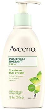 3-Pack Aveeno Positively Radiant Body Lotion, 12 Fl. Oz