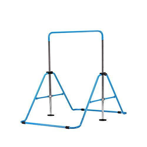 Wesfital Gymnastics Bars Junior Training Bar Gymnastic Horizontal Bars for Kids Gymnasts (Blue)