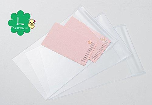 【大判の御朱印帳用】ビニールカバー 3枚組 吸取り紙1枚付き 片袖ブックカバータイプ
