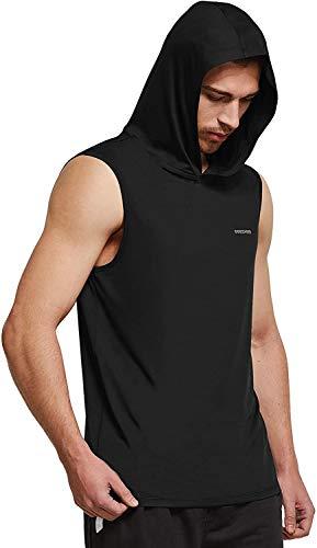 Ogeenier Herren Sommer Sport Tank Top mit Kapuze Muskelshirt Trainingsshirt für Training Gym Fitness & Bodybuilding