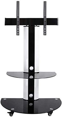 N/Z Inicio Equipos Soporte de TV Soporte de Pedestal Carrito de TV con Pantalla giratoria Soporte de TV móvil de Alta Resistencia para televisores de 32'/ 49' / 55'/ 60 Plasma/LCD/LED OLED Black