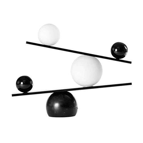 NoNo Marmor Tischlampe Nachttischlampe, Hardware + Glas + Marmor, LED Tischleuchte Mit Guter Optischer Leistung, Wärmeisolierung, Geeignet Für Wohnzimmer/Studie/Schlafzimmer,Schwarz