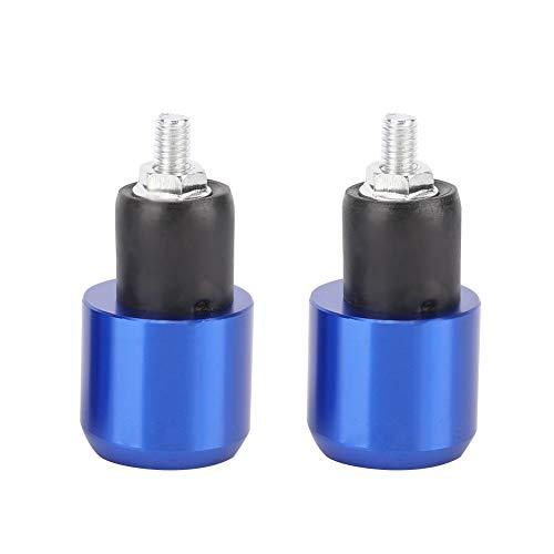 Suuonee stuurstekker voor motorfiets, 2 stuks, voor weegschaal, universeel gewicht, 18-22 mm default Blauw