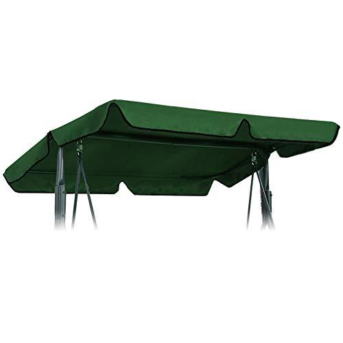 YINETTECH - Tetto per dondolo a 3 posti, colore: Verde/Beige, Vert Armée#3, 169x115cm#