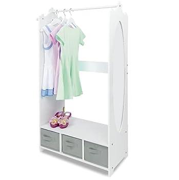 Milliard Dress Up Storage Kids Costume Organizer Center Open Hanging Armoire Closet Unit Furniture