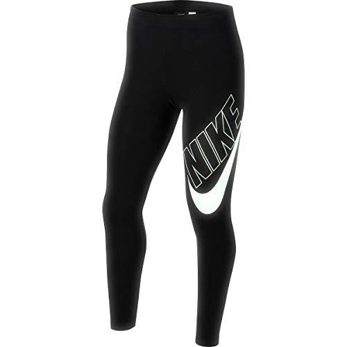Nike Mädchen G NSW Favorites GX Leggings, Black/(Vapor Green), S