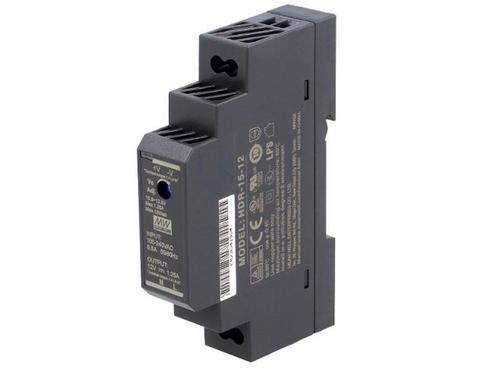 MEAN WELL HDR-15-5 Ultra Slim Step-Shape 1SU DIN Rail Power Supply, 5V 2.4A 12W
