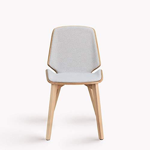 CHQYY Chaise - En bois massif nordique CHAISE Accueil Mode en cuir simple CHAISE Restaurant Cafe Tissu haut de gamme Loisirs Chaise Convient pour intérieur et extérieur (Couleur : B)
