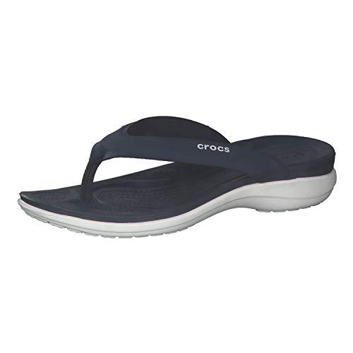 Crocs Damen Capri V Sporty Flip, Navy, 41-42
