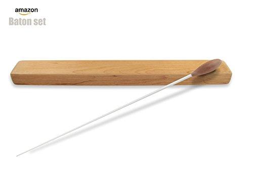 Physcool - Bacchetta professionale in legno per direzione d'orchestra. Bacchetta per direzione d'orchestra con apposita custodia in legno (lunghezza u