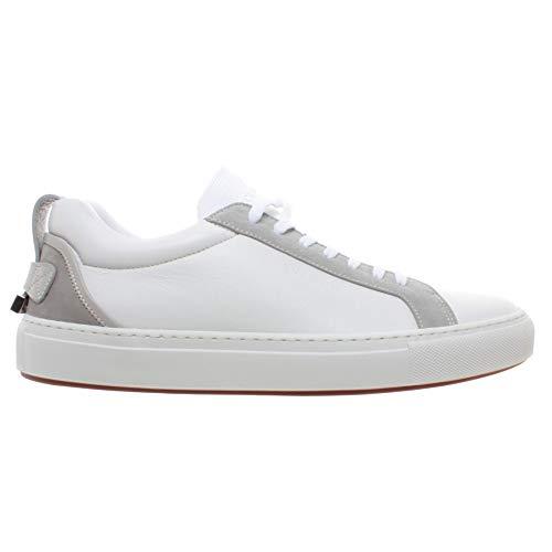 BUSCEMI Herren Sneakers Lyndon Sport Leder Weiss