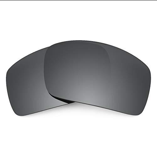 Revant Verres de Rechange Compatibles avec Oakley Oil Drum, Non Polarisés, Chrome Noir MirrorShield