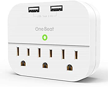 One Beat Multi Plug Outlet Extender with 2 USB Ports