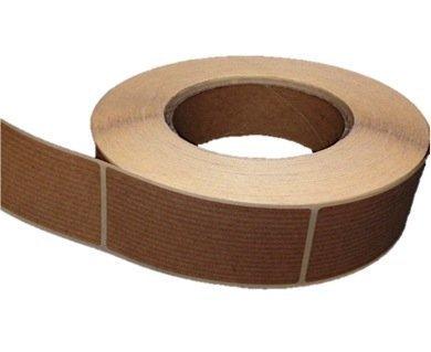 100 Etiquetas rectangulares adhesivas Kraft (7,5 x 3,5 cm)