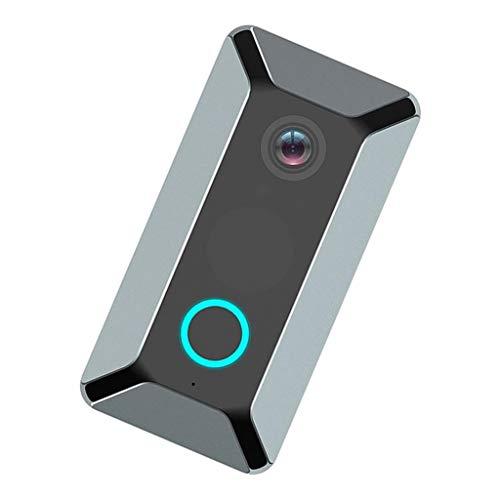 P Prettyia 720P Timbre Inalámbrico Inteligente Cámara WiFi Charla Bidireccional Seguridad Gris