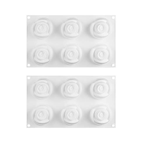 Silicone 3D Rose Flower Mould Cake Chocolate Mold Mould Modelling Decorating 2Pc