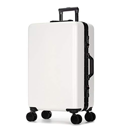 XIANGSHAN Estuche de Trolley for PC + ABS, Bolsa de Equipaje Duradera de súper Almacenamiento, Ruedas de Viaje, Ruedas, 20'24' 26'Pulgadas (Color : Red, Size : 20inch)