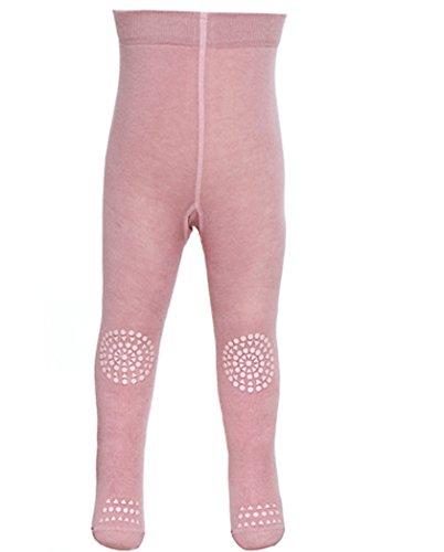 GoBabyGo Baby Krabbelstrumpfhose (74/80, Rosa) - Produziert in Europa   Kinder Strumpfhose mit ABS Noppen an Knien, Sohlen und Zehen