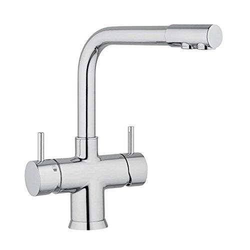 5-en-grifo Nobius L-grifo de cromo para agua fría, caliente sin terminar de cable de el agua y el 3 de agua y por ejemplo los tipos de embarazo y lactancia, enfriado y con gas.